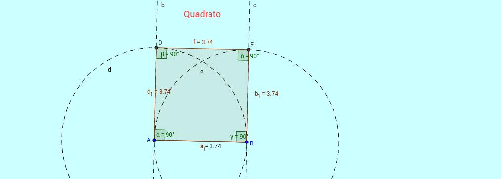Costruzione di un quadrato partendo dal lato