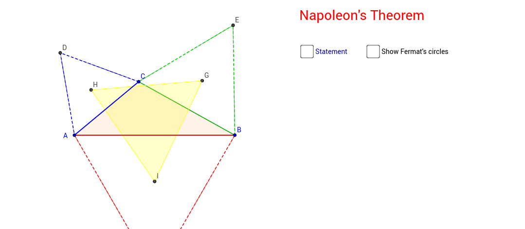 Napoleon's Theorem - Defining Hypothesis and Thesis