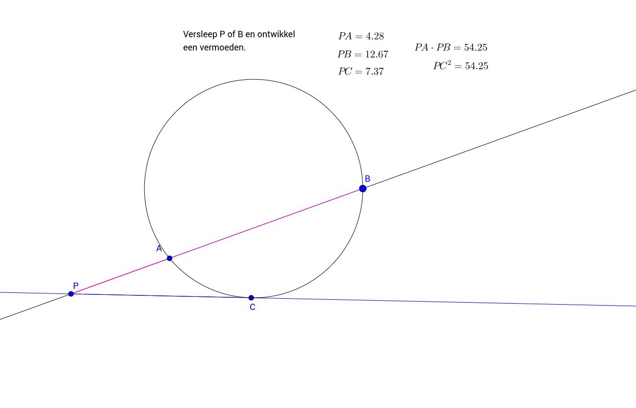 Vermoeden PA.PB=PC^2
