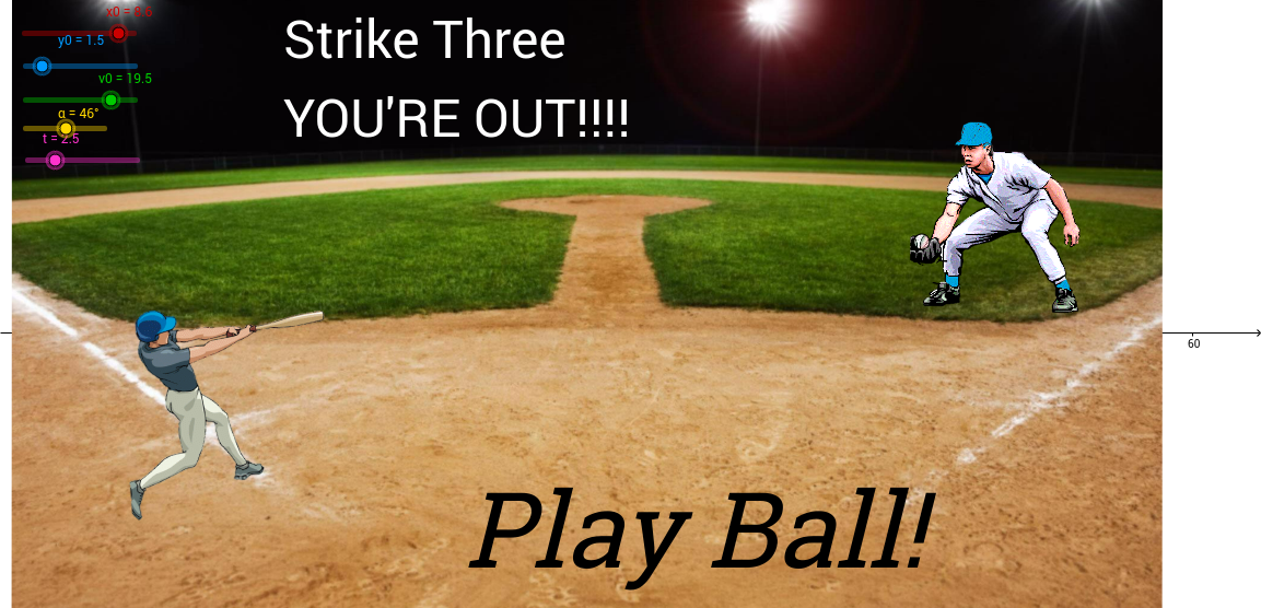 Projectile motion - baseball