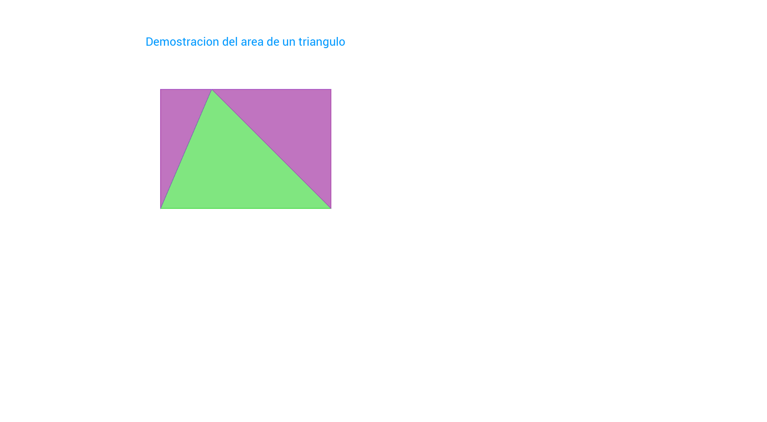 Demostracion: Area de un triangulo