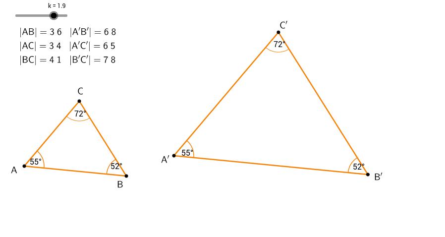 Ensvinklede trekanter med mål