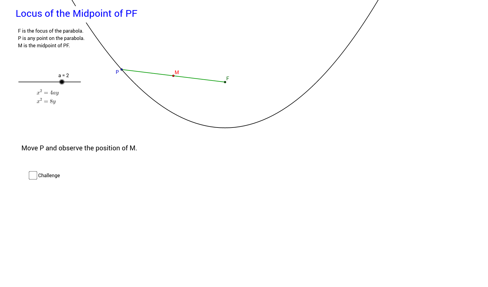 Locus of Midpoint of PF