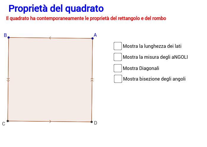 Proprietà del quadrato