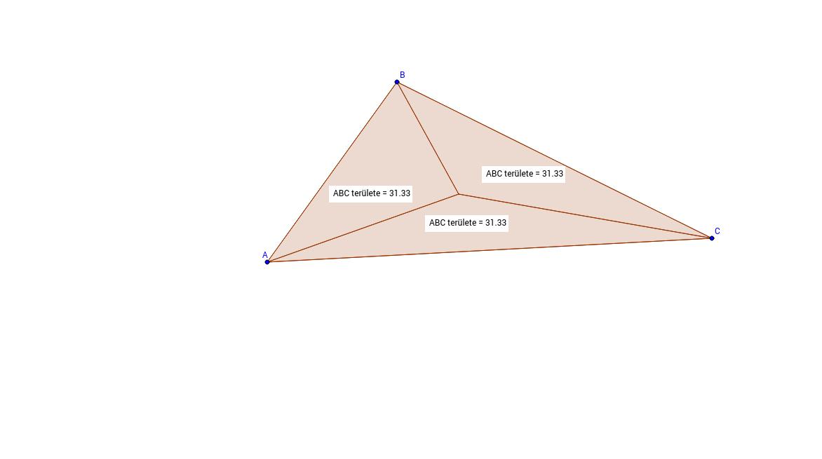 Súlypont a háromszögben