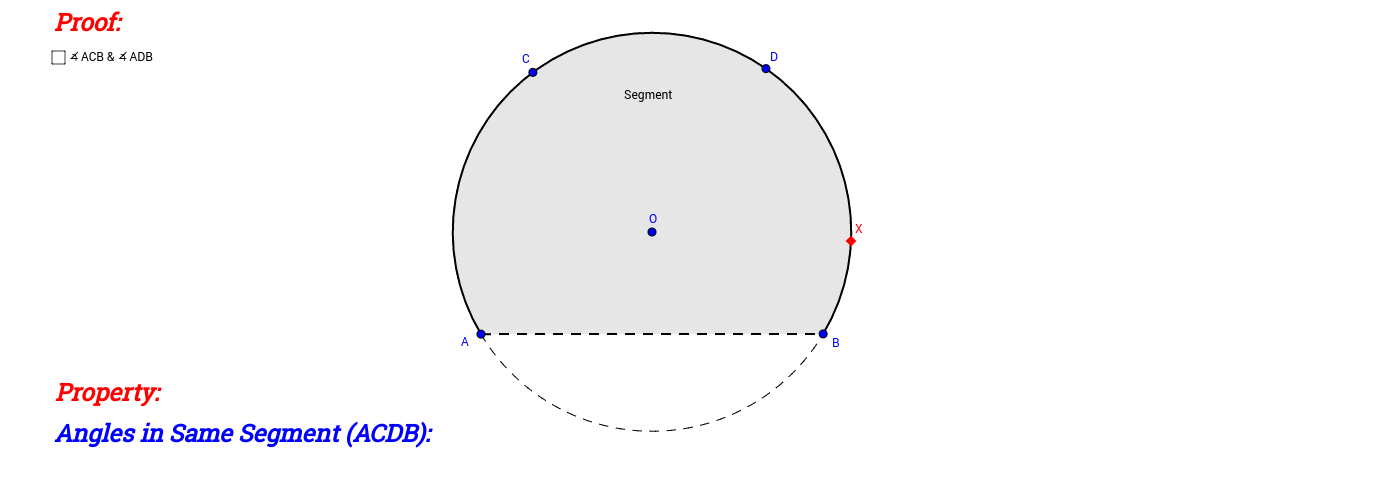 Angles in Same Segment (Proof)