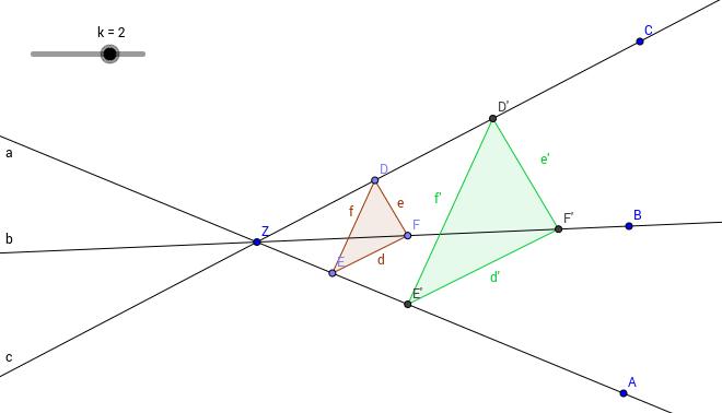 Zentrische Streckung eines Dreiecks