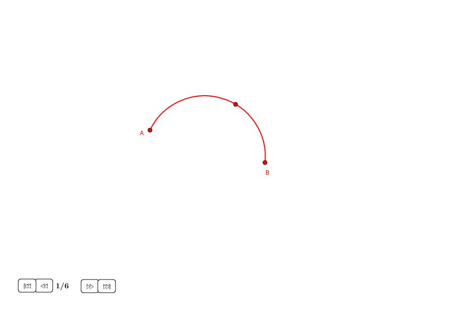 Perpendicular bisector de un arco dado