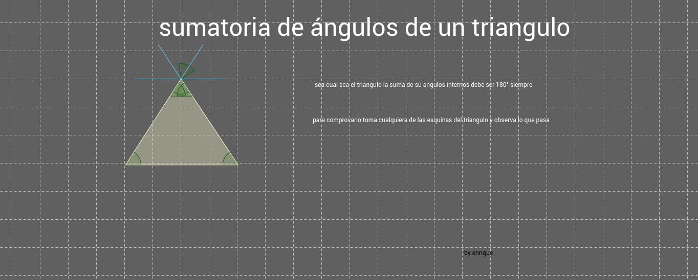 suma de ángulos de un tringulo