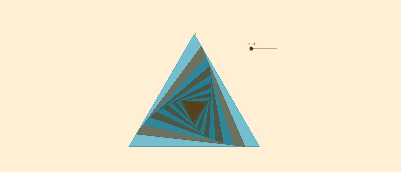 Polígonos regulares dinámicos
