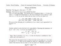 Survey of Calculus Solution Sheets