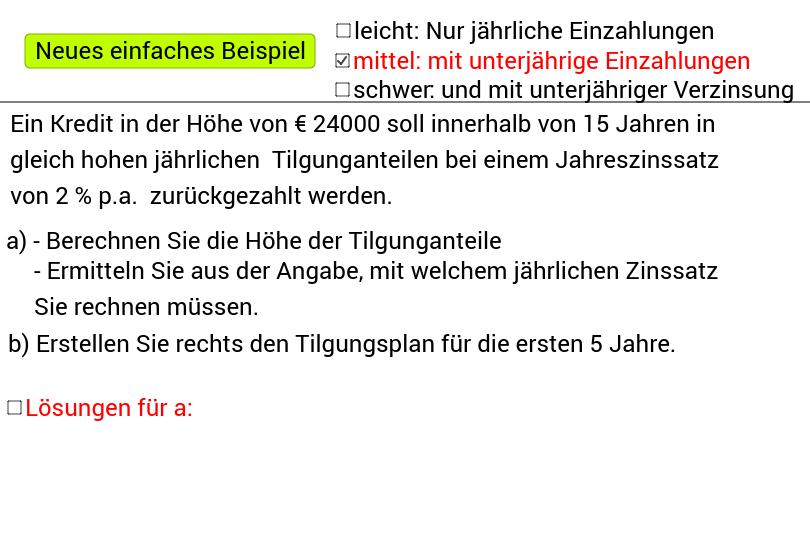 Tilgungsplan-Übungsblatt – GeoGebra