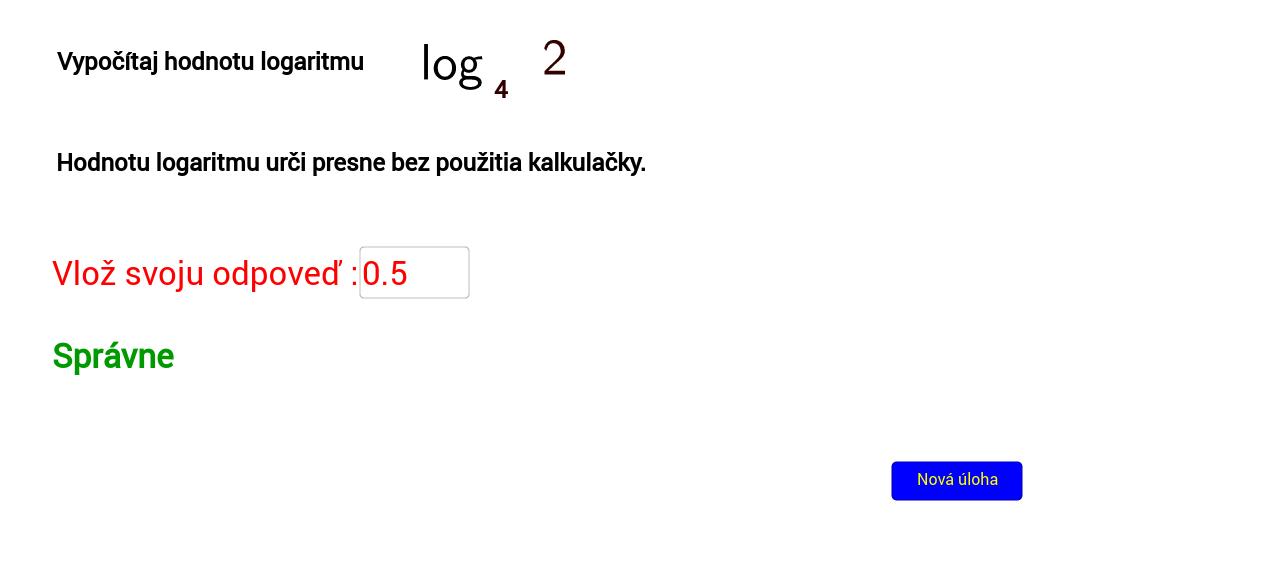 Výpočet logaritmu