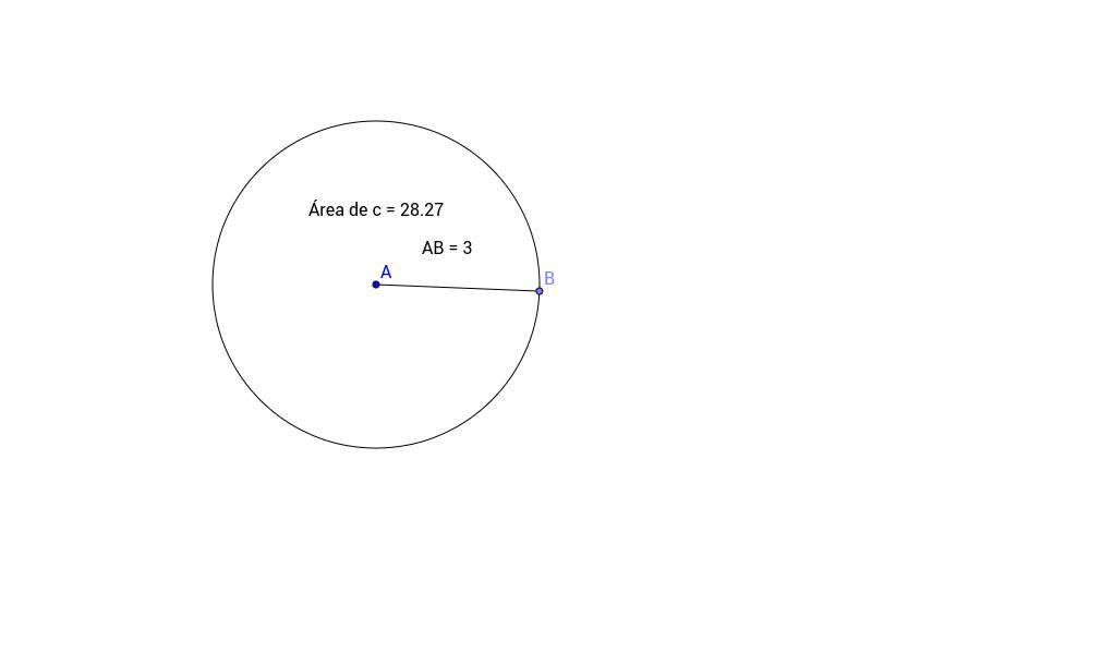 Área de circunferencia