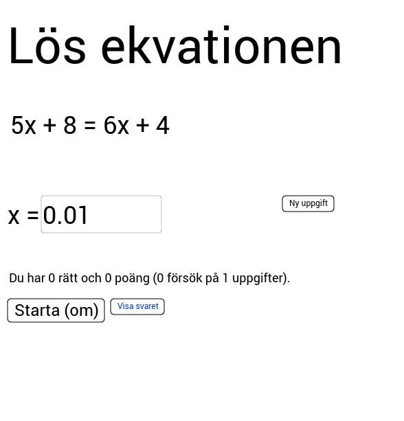 Equation practice