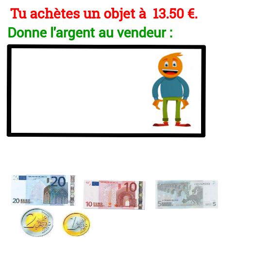 Bekannt Exercice rendre la monnaie centimes Niveau 1 - Exercices de maths  ZL71