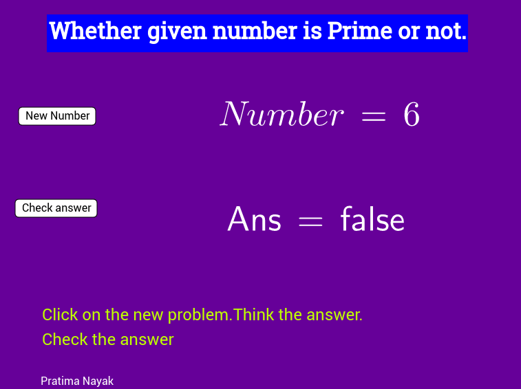Prime Numbers practice material