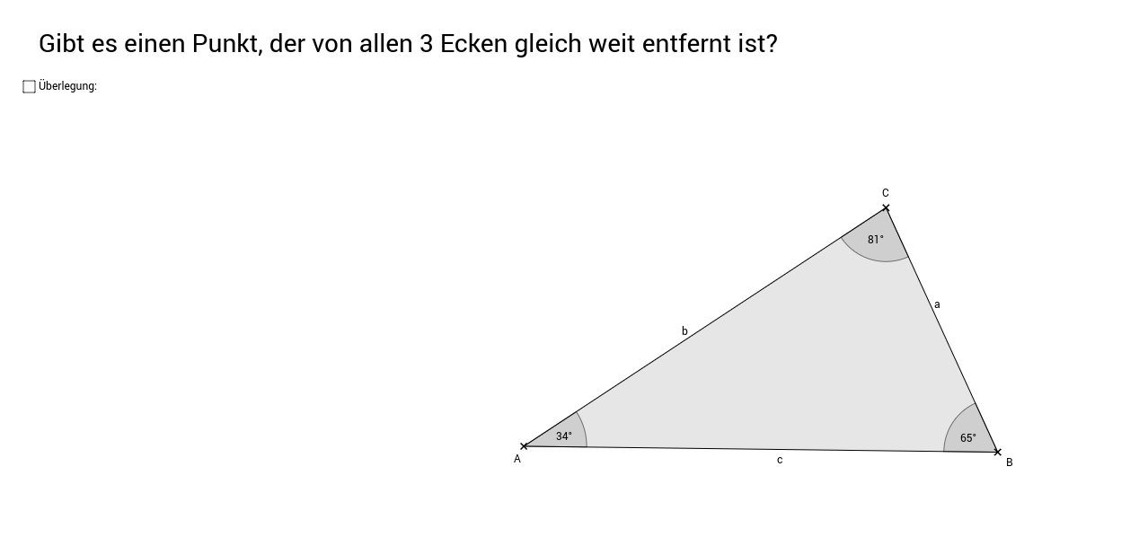 Besondere Punkte des Dreiecks