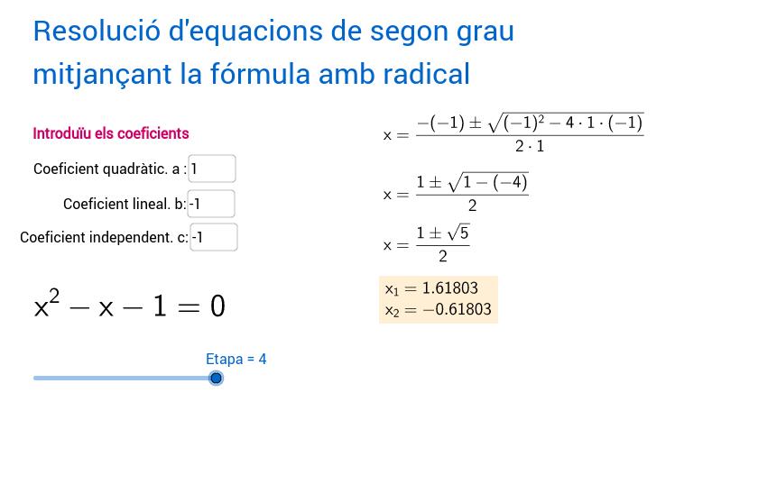 Equació de segon grau. Rutina de resolució