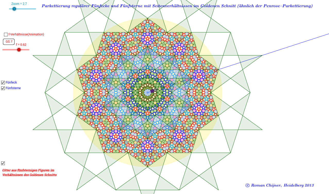 Nichtperiodische Parkettierung Penrose-Parkett_1