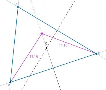 A háromszög körülírt köre