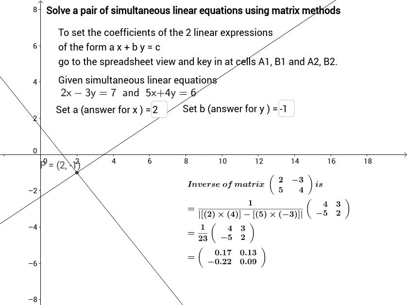 Matrix Method Simultaneous Linear Equation Question Setter