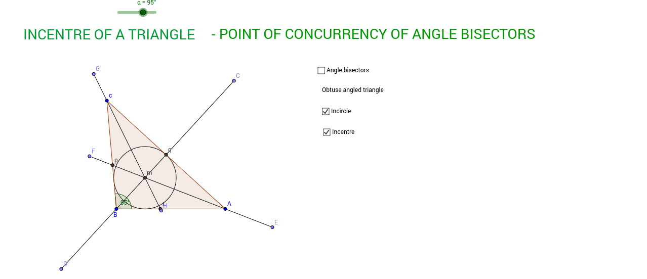 Copy of Incentre of a triangle