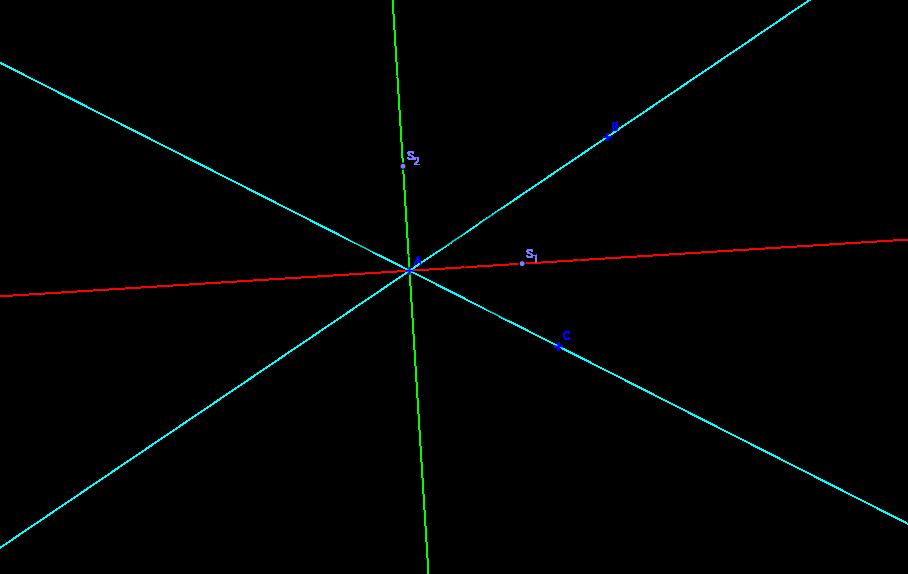Osa úhlu - středy kružnic