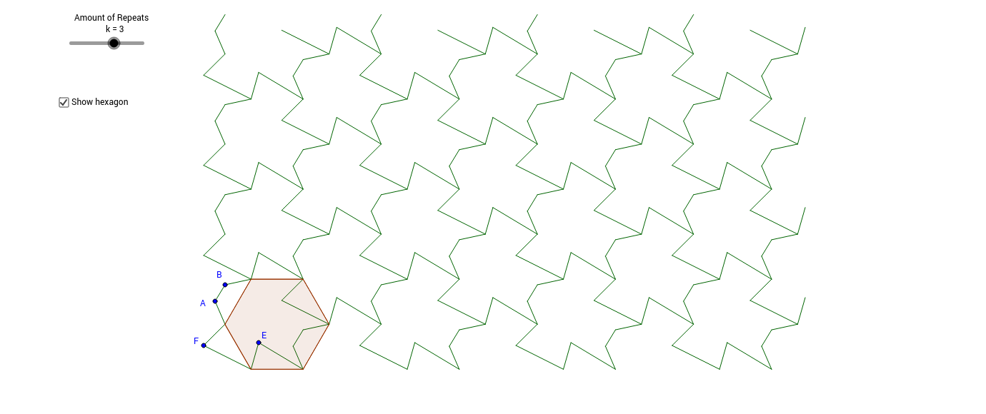 Tessellation from a hexagon