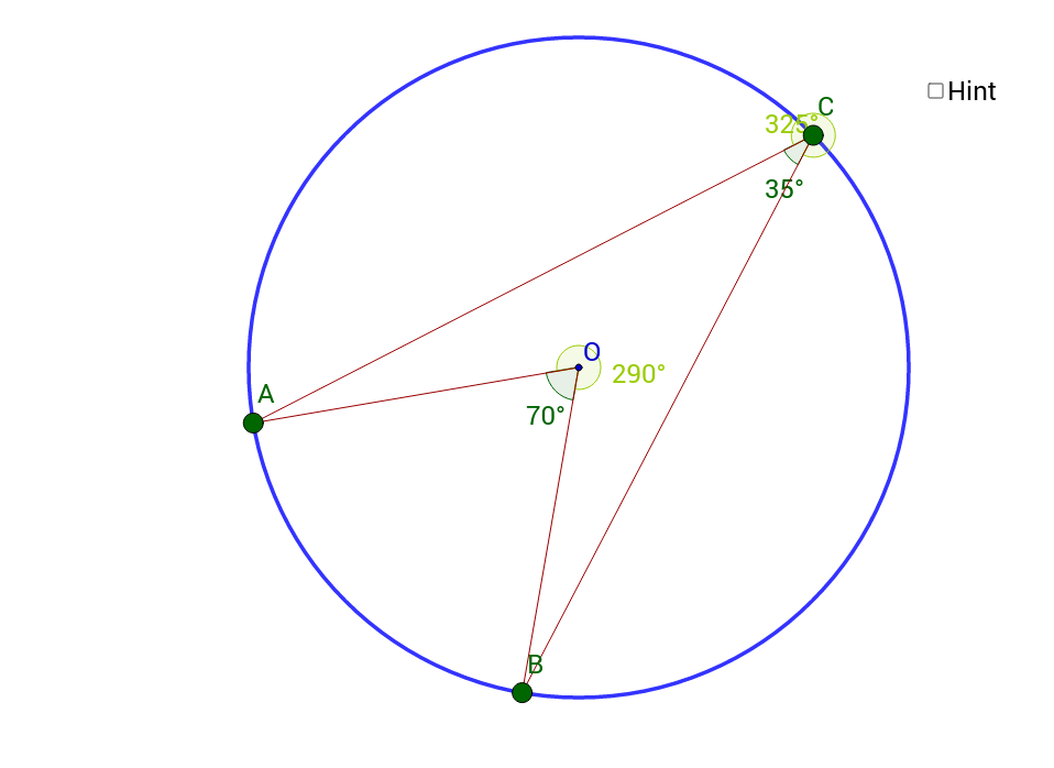 Angles at centre / circumference
