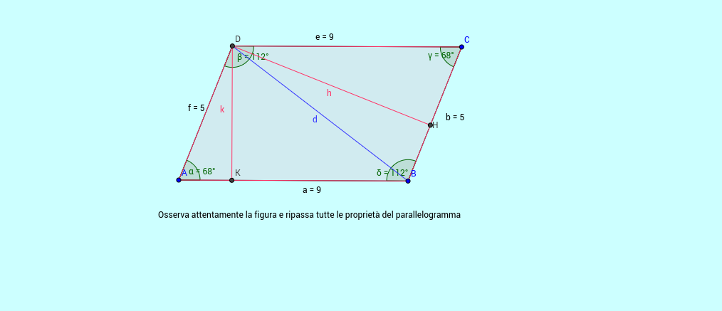 Parallelogramma e altezze