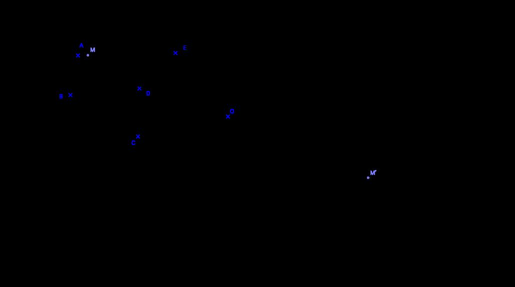 Image d'un polygone par une symétrie centrale