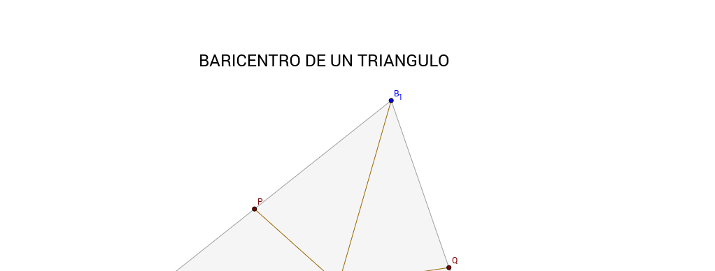 Calculo del Baricentro de un triangulo
