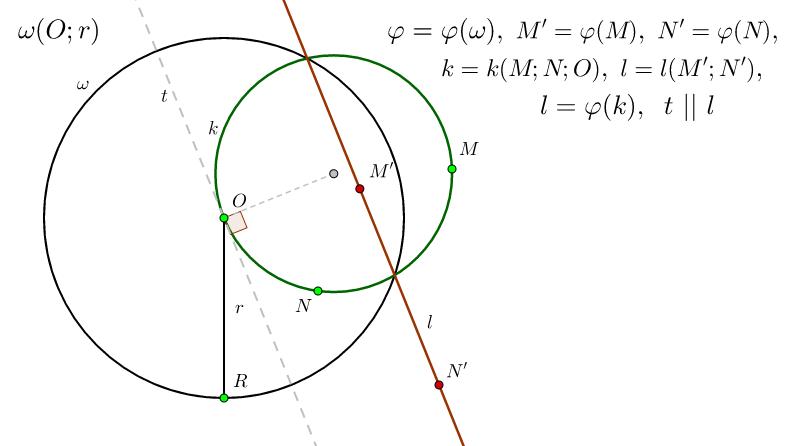 Теорема 3. за инверсията