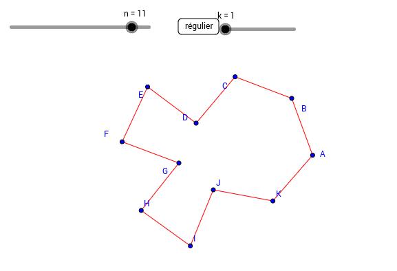 polygone à n côtés de même longueur.