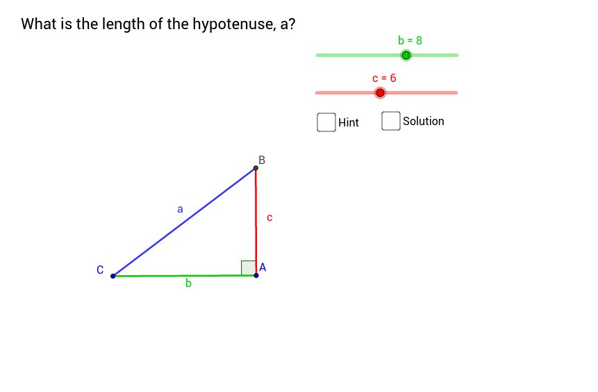 Pythagorean Theorem - finding the hypotenuse