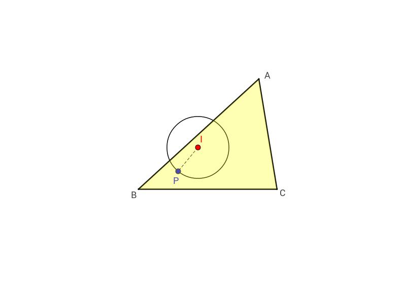 Inkreis eines Dreiecks ... noch eine weiche Konstruktion!