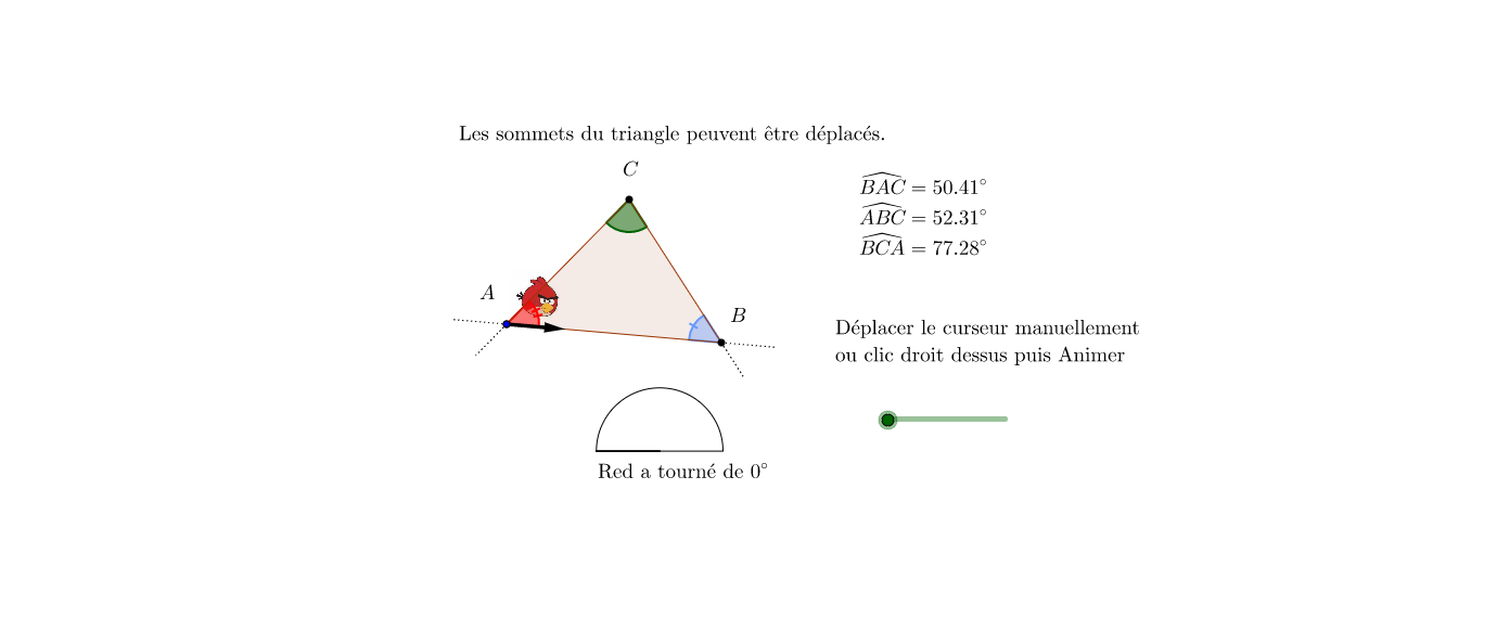 Angles dans Triangle