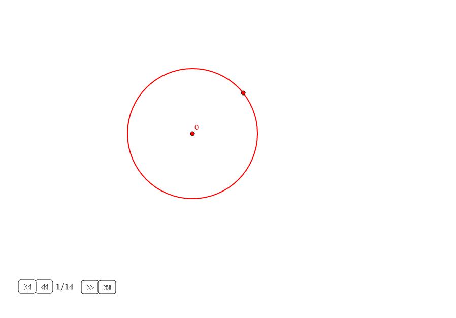 Octógono regular alrededor de un círculo