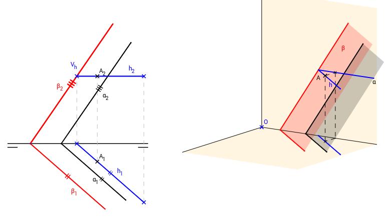 DT2.Diedrico. Paralelismo y perpendicularidad. Problema 01.