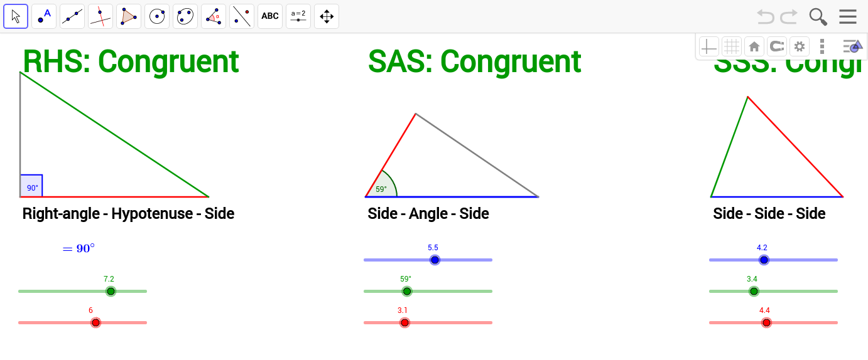 Uncategorized Congruent Angles Worksheet congruent triangles criteria geogebra