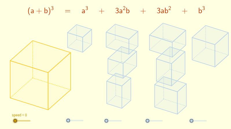 cube of a binomial