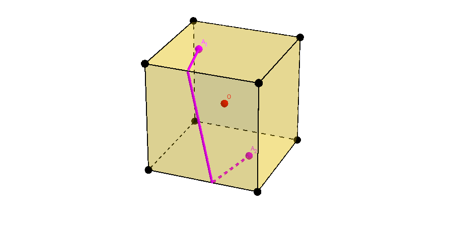 Cube Geometry: Shortest Path Between Antipodal Points