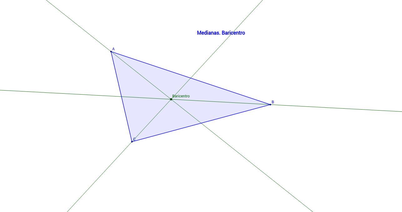 Medianas de un triángulo. Baricentro.