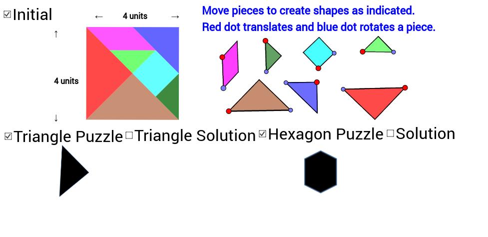 Tangram Triangle & Hexagon