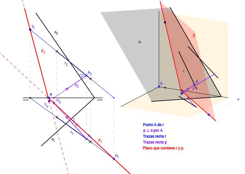 DT2.Diedrico. Paralelismo y perpendicularidad. Problema 02.
