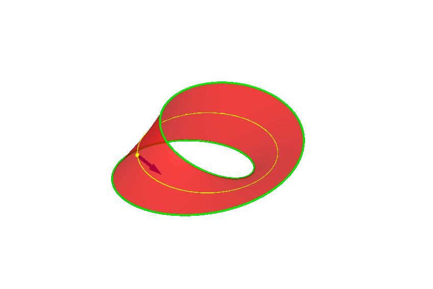 A Mobius strip + normal vector