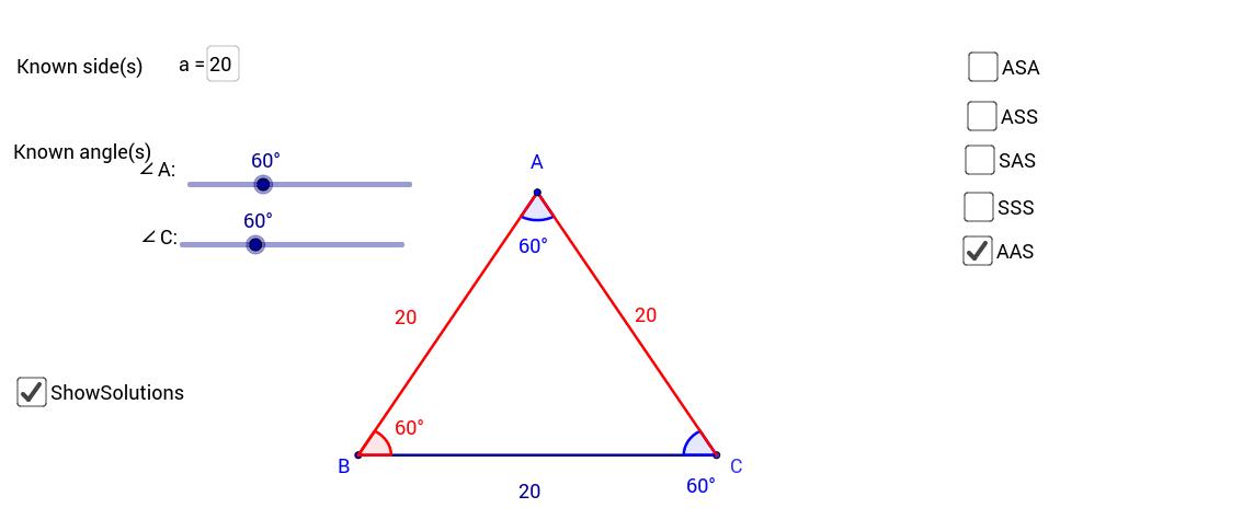 Triangle Solver - GeoGebra