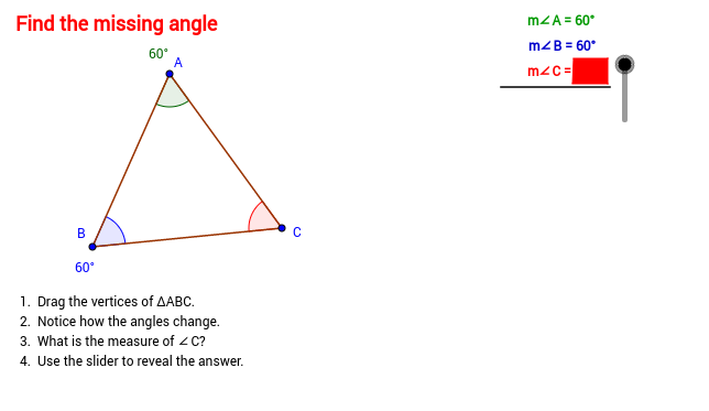 Missing angle in a triangle