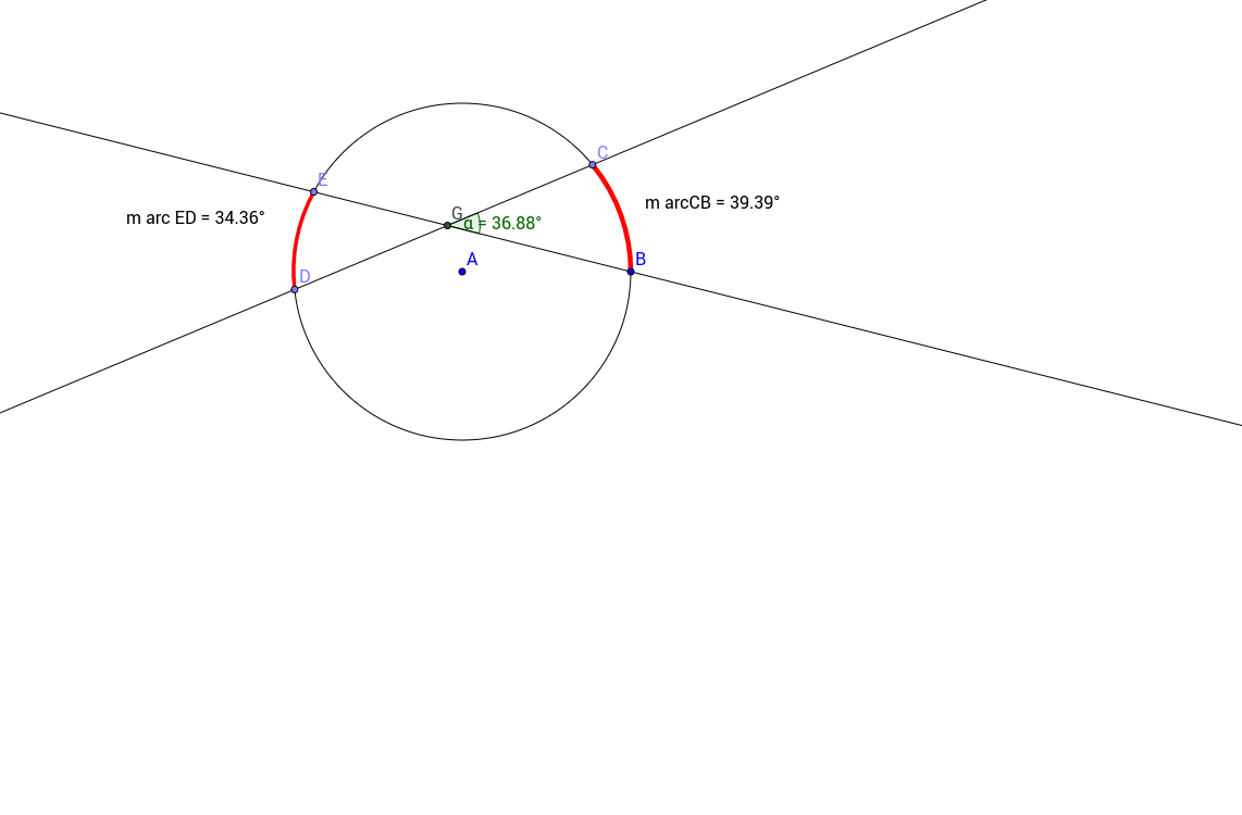 Angle with vertex in a circle